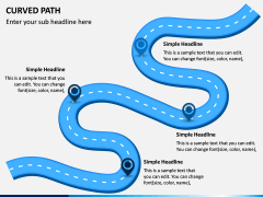 Curved Path PPT Slide 1