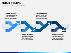 Ribbon Timeline PPT Slide 5