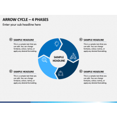 Arrow Cycle – 4 Phases PPT Slide 1