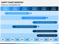 Gantt Chart Monthly PPT Slide 4