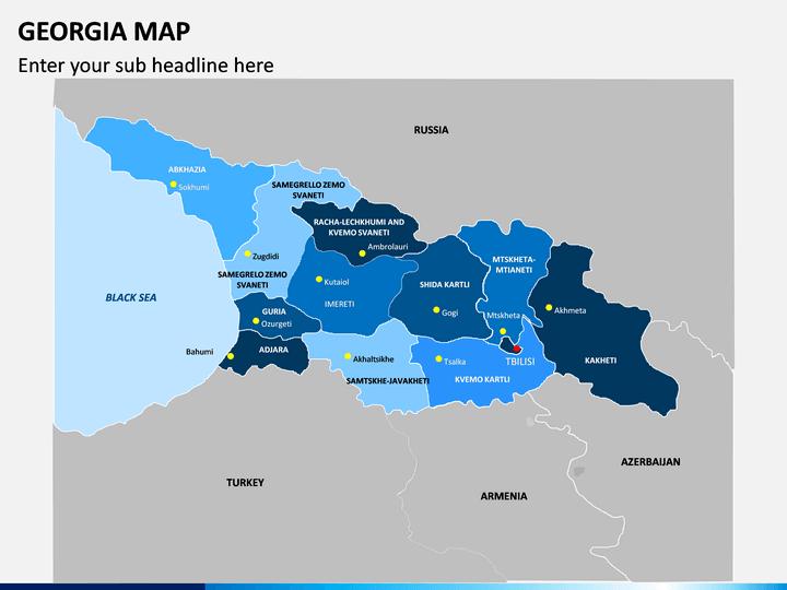 Georgia Map PPT Slide 1