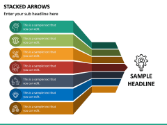 Stacked Arrows PPT Slide 2