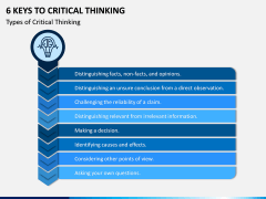 6 Keys to Critical Thinking PPT Slide 2
