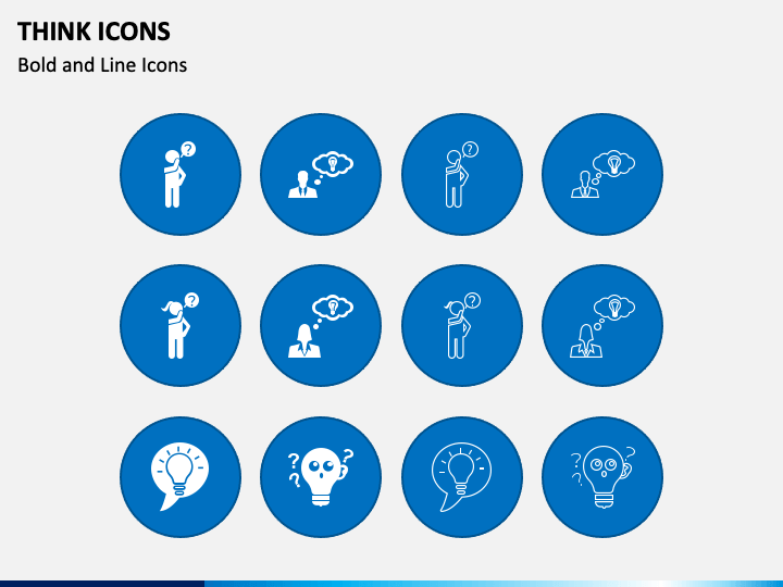 Think Icons PPT Slide 1