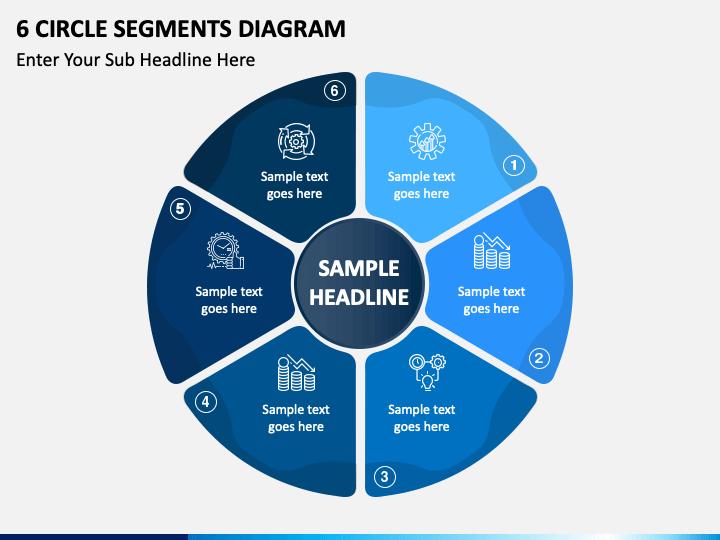 6 circle segments free PPT slide 1
