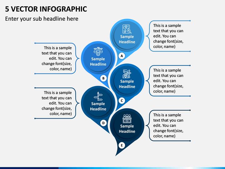 5 Vector Infographic PPT Slide 1
